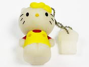 USB flash disk Kitty žltá 4 GB zn. PROPAG